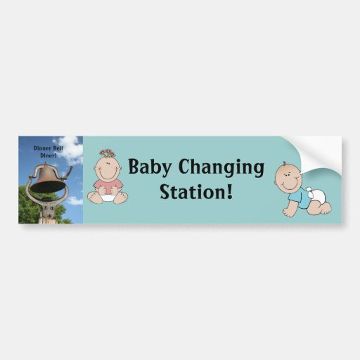 Restaurant supplies Baby Changing Station Bell Bumper Stickers