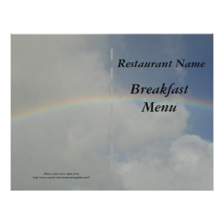 Restaurant supplies Breakfast Menu Rainbow