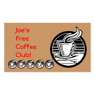 Restaurant Supplies Coffee Club Card Business Card