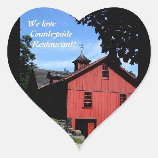 Restaurant Supplies, Countryside Heart Sticker