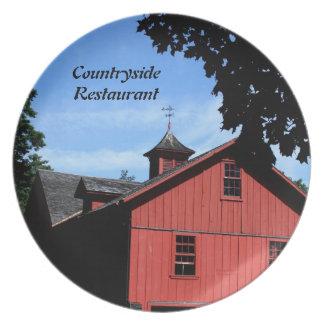 Restaurant Supplies, Decorative Plate, Countryside Melamine Plate