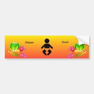 Restaurant Supplies Diaper Deck Bathroom Sticker
