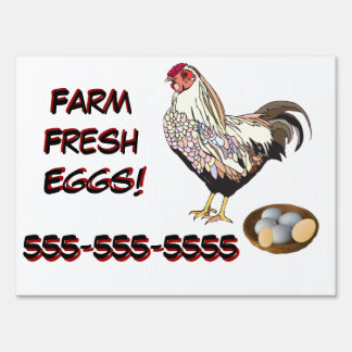 Restaurant Supplies Farm Fresh Eggs Sign