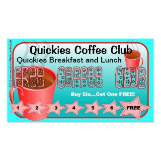 Restaurant Supplies FREE Coffee Club Card 2 Business Card