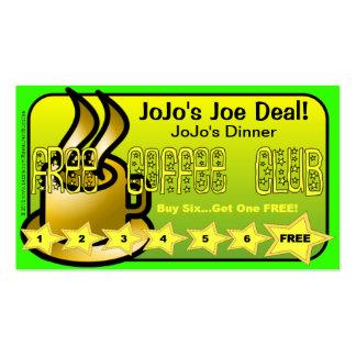 Restaurant Supplies FREE Coffee Club Card Business Card