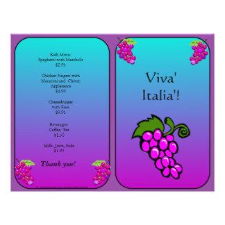 Restaurant Supplies Grapes Flyer Design