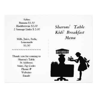 Restaurant Supplies, Kids Breakfast Menu Customize