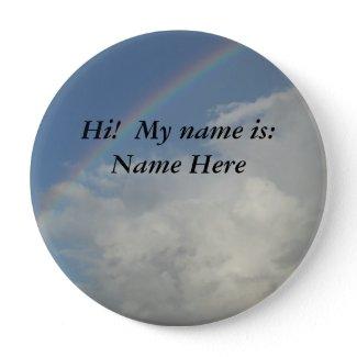 Restaurant Supplies Name Pin Rainbow (Badge) button