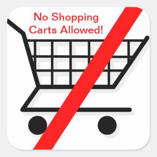 Restaurant Supplies No Shopping Carts Sticker