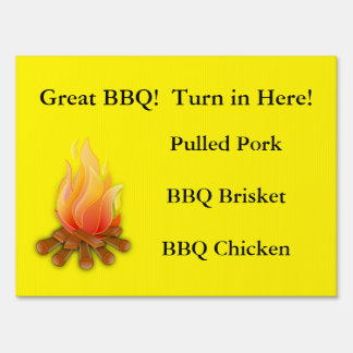 Restaurant Supplies  Road Side Sign  BBQ