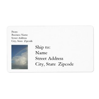 Restaurant Supplies Shipping label Rainbow label