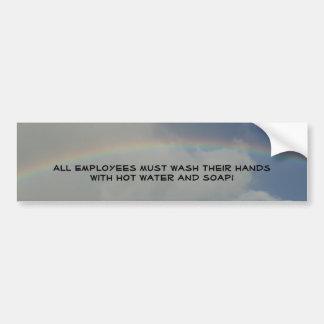 Restaurant supplies Wash hands sticker Rainbow Car Bumper Sticker