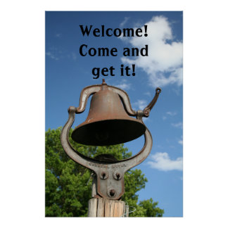 Restaurant Supplies Welcome Sign Dinner Bell