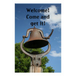 Restaurant Supplies Welcome Sign Dinner Bell Posters