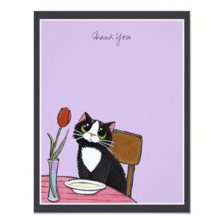 Restaurant Tuxedo Cat Thank You Card