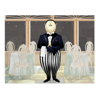 Restaurant Waiter Postcard