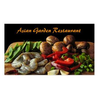 Restaurante asiático plantilla de tarjeta de visita