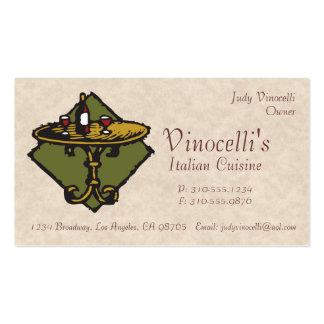 Restaurante, barra, bistro, Wine&Spirits 1 Plantilla De Tarjeta De Visita