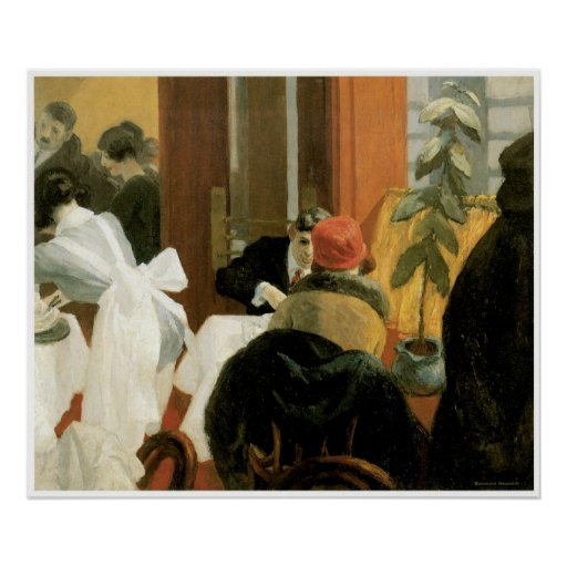 Restaurante C. 1922, Edward Hopper de Nueva York Poster