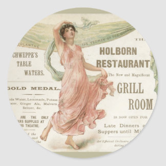 Restaurante de Holborn Etiqueta Redonda