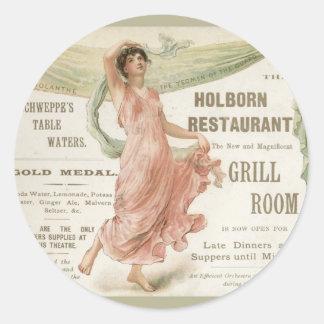 Restaurante de Holborn Pegatina Redonda