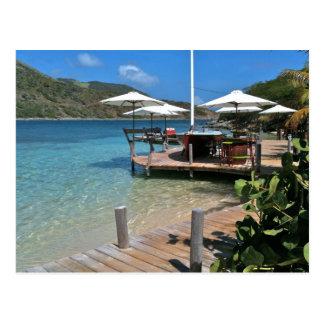 Restaurante de la costa de la isla de Pinel Tarjetas Postales