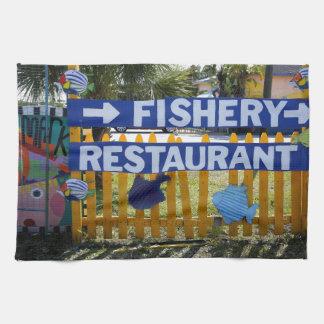 Restaurante de la industria pesquera toallas