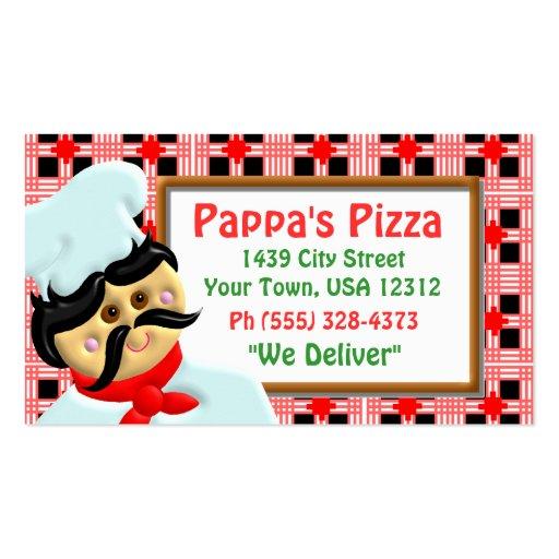 Restaurante de la pizza tarjetas de negocios