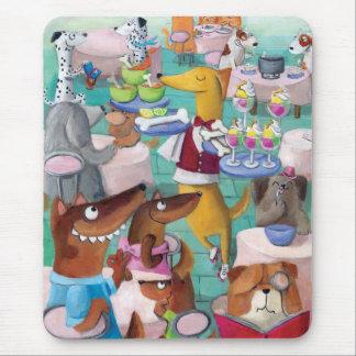 Restaurante de los perros alfombrillas de ratón