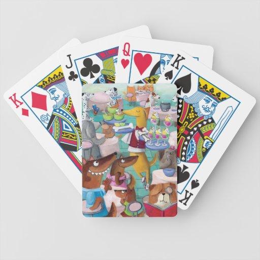 Restaurante de los perros barajas de cartas