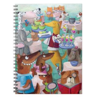 Restaurante de los perros libros de apuntes con espiral