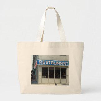 Restaurante de New York City - Manhattan Bolsa Tela Grande