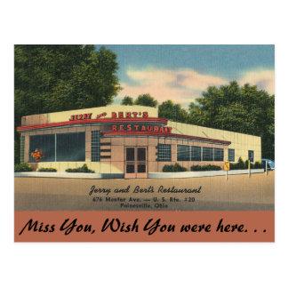 Restaurante de Ohio, de Jerry y de Bert, Postal