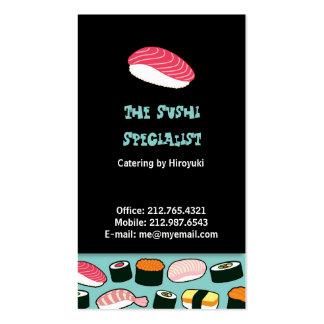 Restaurante de sushi/tarjeta de visita (azul) del  tarjetas de visita
