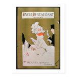 """""""Restaurante de Tivoli, filamento"""", Londres (litho Tarjeta Postal"""