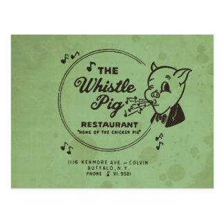 Restaurante del cerdo del silbido postal