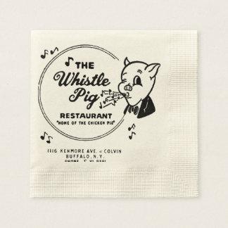Restaurante del cerdo del silbido servilleta desechable