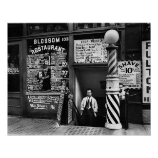 Restaurante del flor, 103 Bowery, 1935 Posters