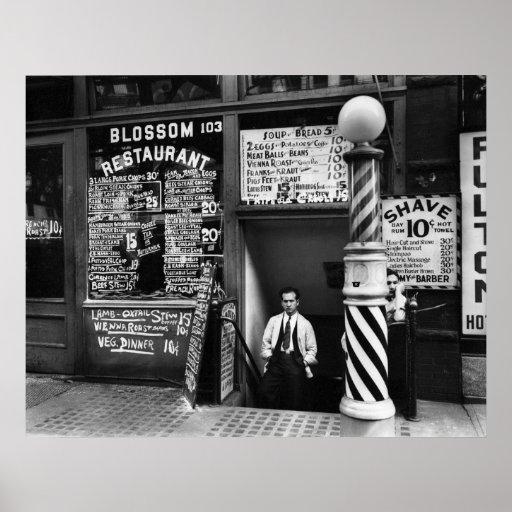 Restaurante del flor, 103 Bowery, 1935 Posters