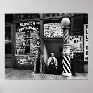 Restaurante del flor 103 Bowery 1935 Posters