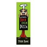 Restaurante del italiano del cocinero de la pizzer tarjetas de negocios