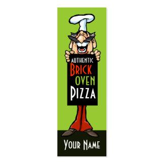 Restaurante del italiano del cocinero de la tarjetas de visita mini