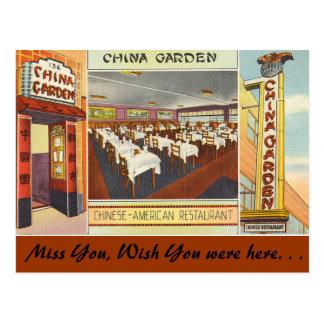 Restaurante del jardín de Nueva York, China Tarjetas Postales