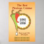 Restaurante del mexicano de la plantilla del poste impresiones