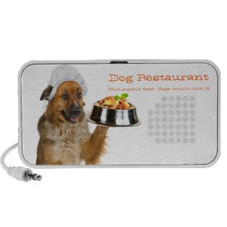 Restaurante del perro portátil altavoz