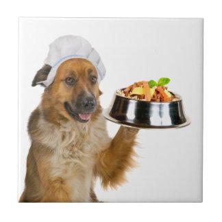 Restaurante del perro azulejo cerámica