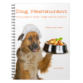 Restaurante del perro libros de apuntes con espiral