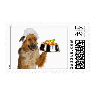 Restaurante del perro sello postal