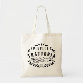 Restaurante del vintage de Trattoria del italiano Bolsa Tela Barata