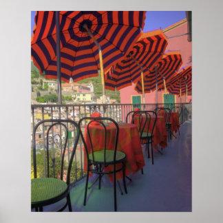 Restaurante en la ciudad de la ladera de Vernazza, Posters